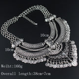 new design retro coin multi layer necklace gold necklaces & pendants vintage bohemian turkish jewelry
