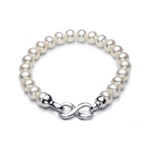 new fashion charm bracelet for women top quality 8-9mm natural freshwater pearl bracelet 17.5cm