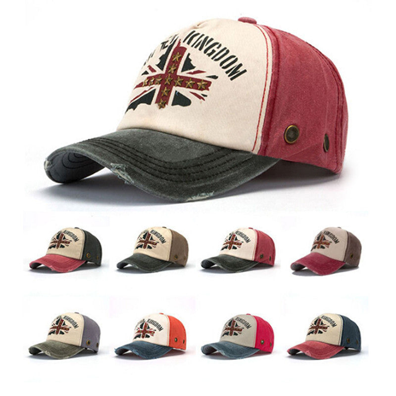 Men and women leisure national flag rivet baseball cap Pure cotton hats outdoor sports cap baseball caps