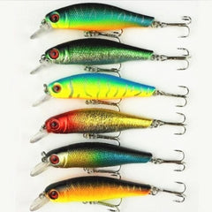 6 pcs/lot fishing lures fishing bait minnow bass lure fishing tackle 8.5CM/8.5G