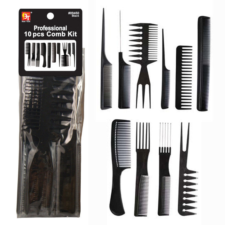 Professional salon hair comb 10pcs/set