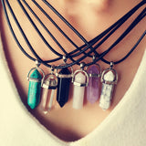 quartz necklaces Pendant Necklace women jewelry accessories chain with crystal agate necklace