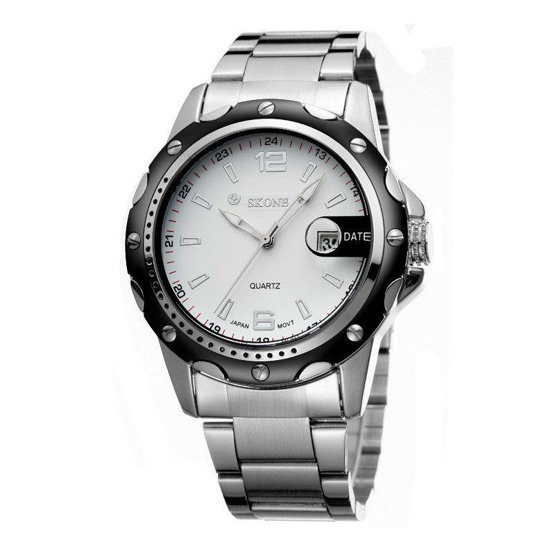 Luxury Brand Oirignal Quartz Wristwatches With Date Full Steel Business Casual Watches Men Watch