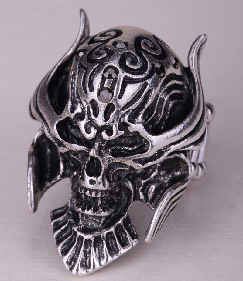 Skull ring stretch women biker jewelry halloween gift for women girls kids