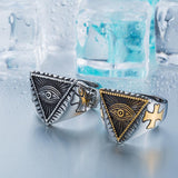 Steel soldier New Eye of Providence All-seeing Eye Ring Stainless Steel Cool Movie Ring For Man