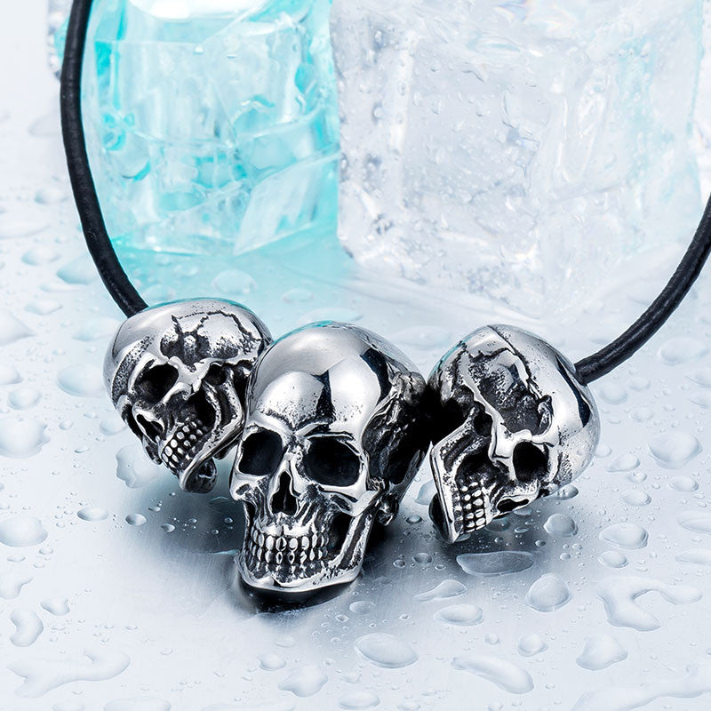 Steel soldier new arrival skull super biker pendant necklace stainless steel Fashion Jewelry