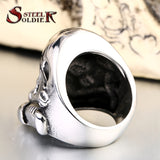 steel soldier new design stormtrooper men personality ring movie style star wars fashion stainless steel jewelry