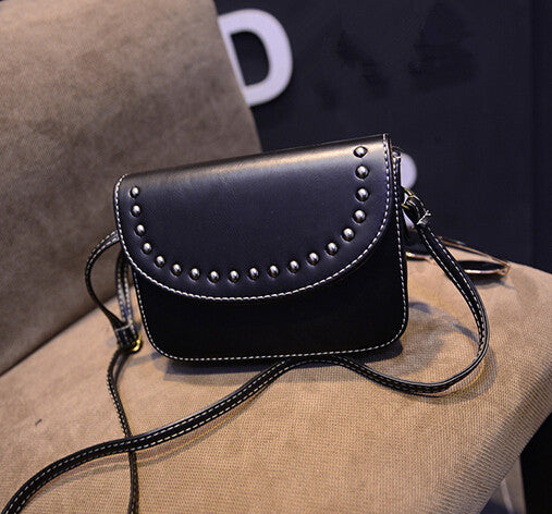 Vintage rivet mini leather handbags hotsale ladies party purse wedding  clutches women small crossbody shoulder messenger bags 7c20548406823