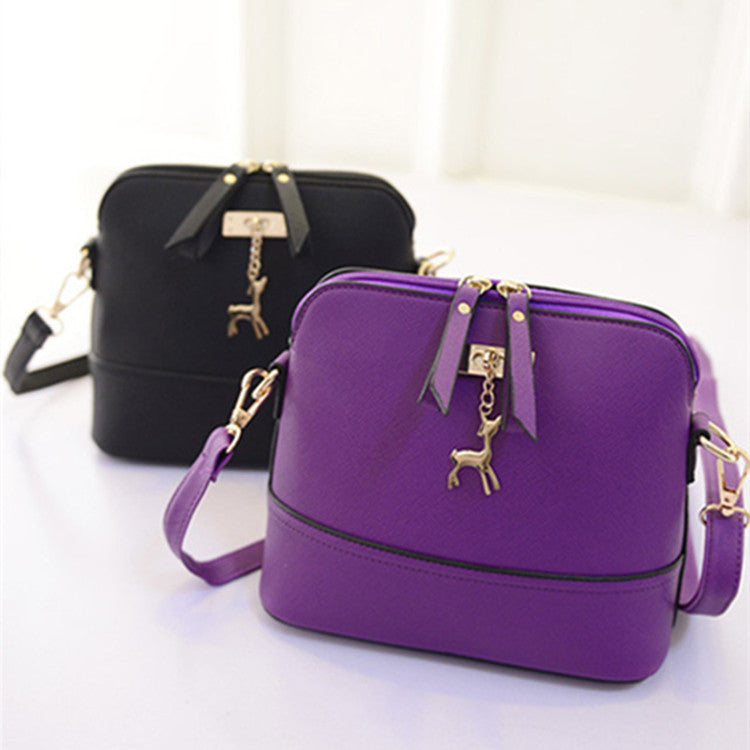 Women's messenger bags fashion vintage small Shell Pu Leather handbag new summer casual bag