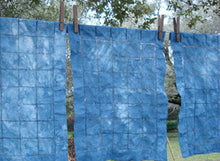Load image into Gallery viewer, Indigo Dye on Linen Placemats, www.skyloomweavers.com