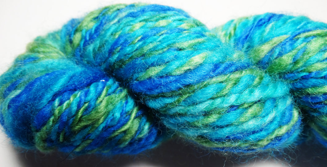 Hand Spun Yarn - Bright Heather, www.skyloomweavers.com
