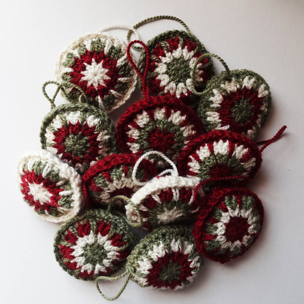Christmas Ornaments - Red, www.skyloomweavers.com