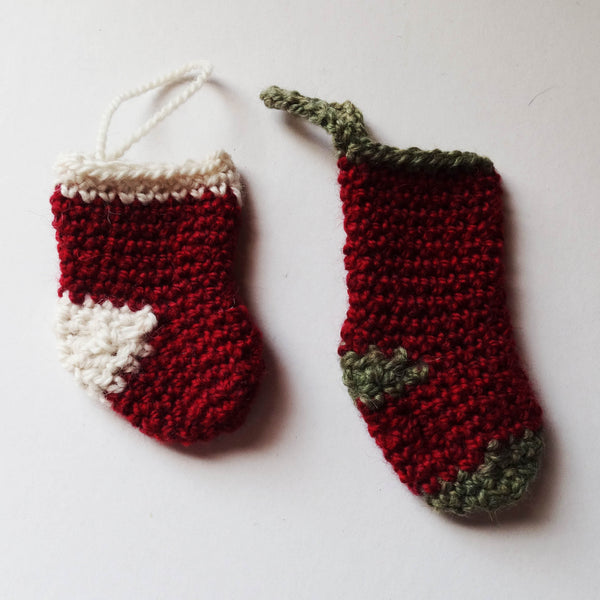Christmas Ornaments - Stockings, www.skyloomweavers.com