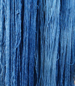 Indigo Dye on Cotton/Rayon Yarn, www.skyloomweavers.com