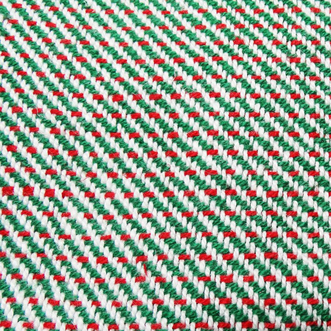 Two Color Twill Kitchen Towels - Green/Red, www.skyloomweavers.com