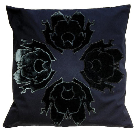 Lava Flower Appliqué Black on Black