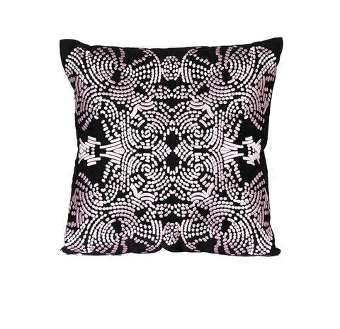 Dew Pillow Pink and Black