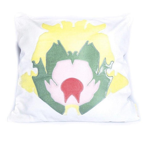 Stone Flower Pillow Yellow