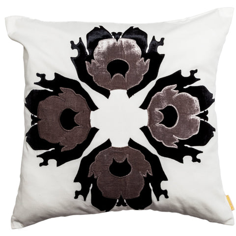 Lava Flower Pillow White