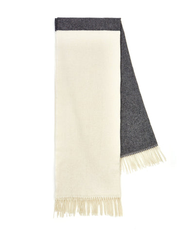 Wool Blanket White/Dark Grey