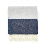 Wool Blanket Grey/Blue