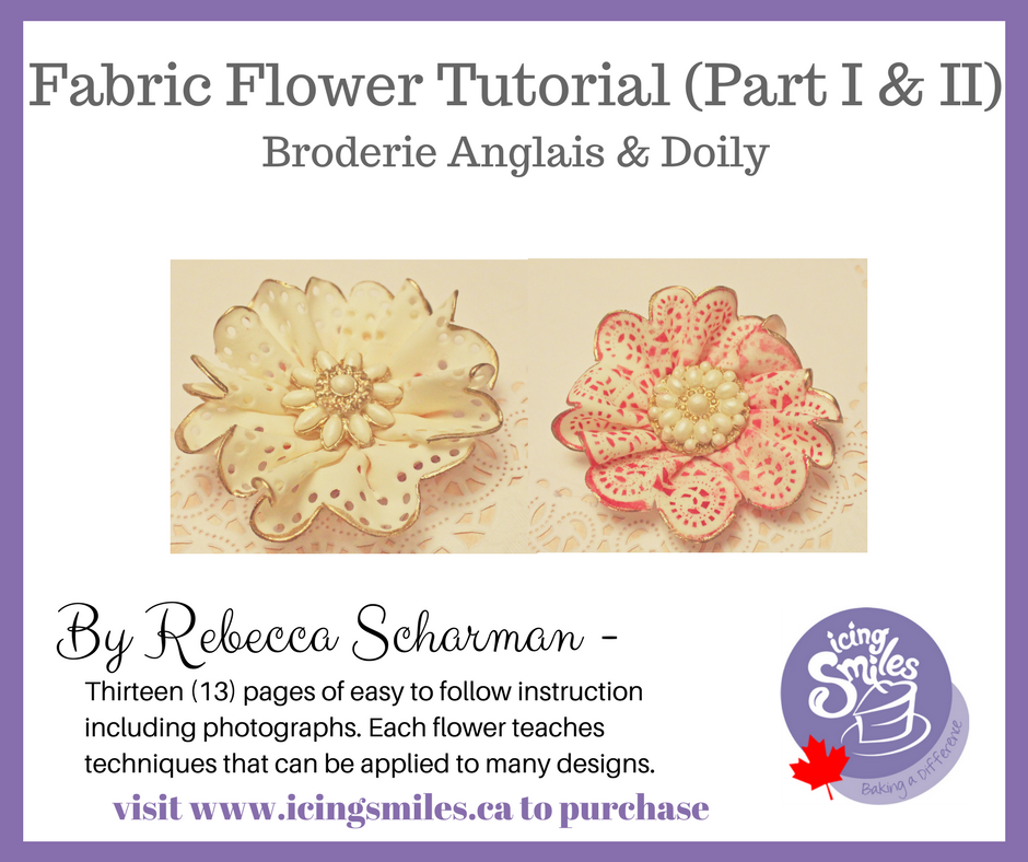 Fabric Flower Tutorial - by Rebecca Scharman - 13 page PDF