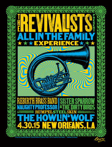 April 2015 All in the Family New Orleans Poster (signed)