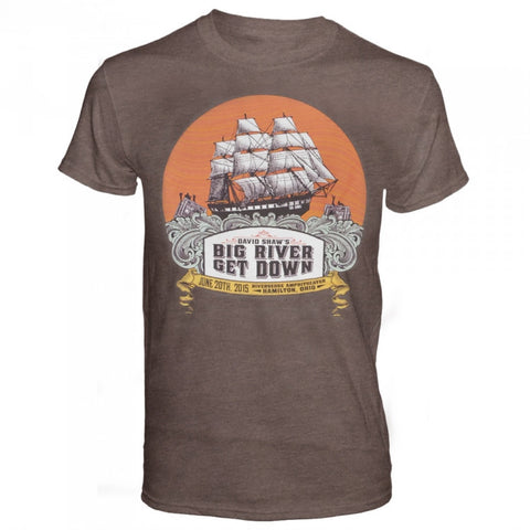Big River Get Down Shirt June 2015 Tour Shirt Brown with Orange