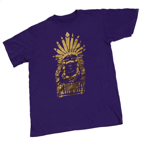 Purple T-Shirt Gold Indian Design