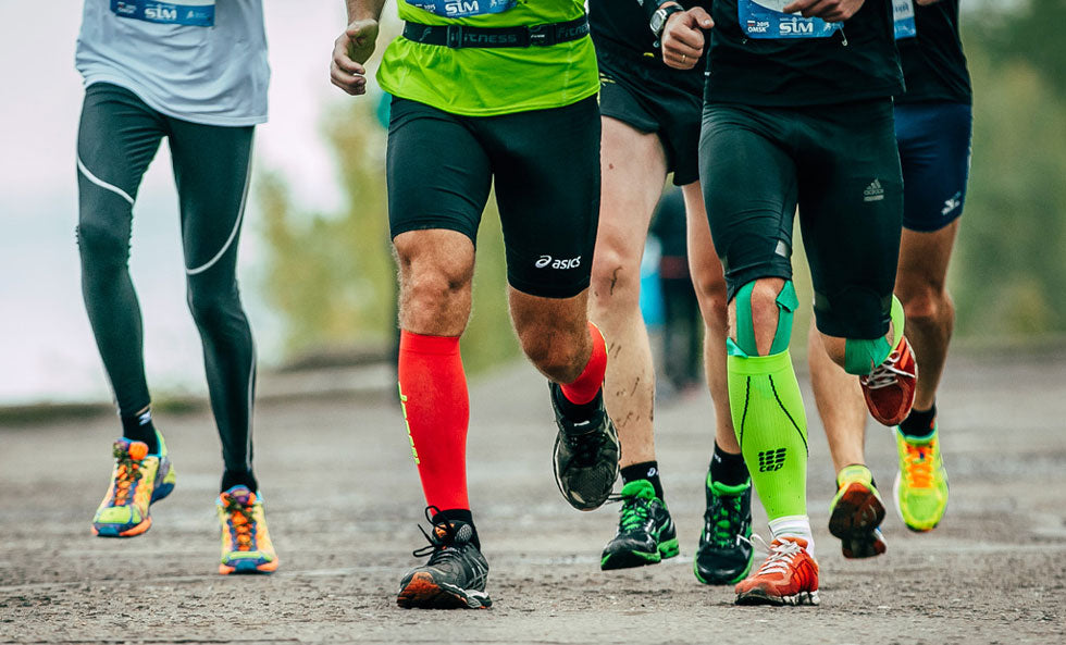 Compression socks and sleeves help runners compete