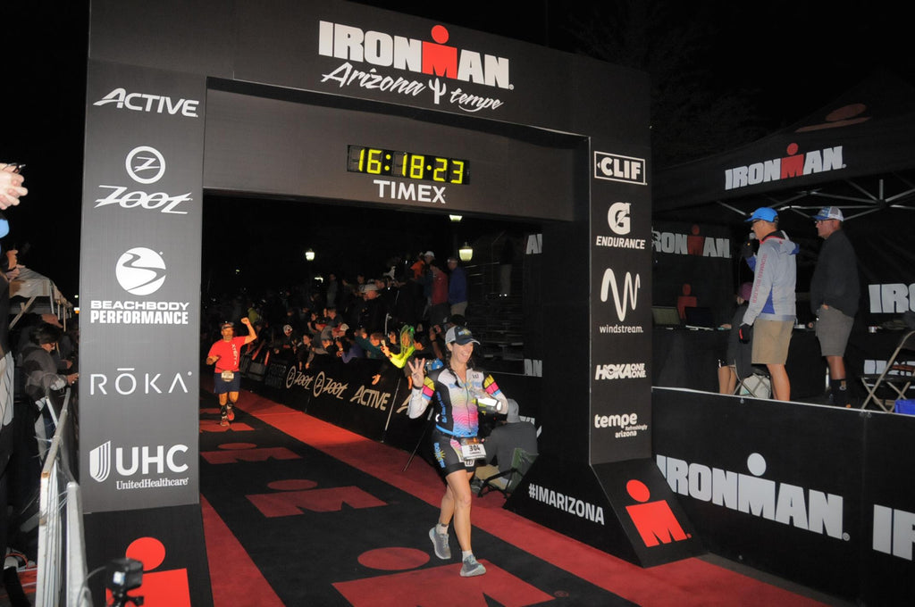 Kim Peterson completes the Arizona Ironman Triathlon