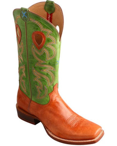 Twisted X Men's Ruff Stock Lime Cowboy Boots - Square Toe - Dusty Cowboy