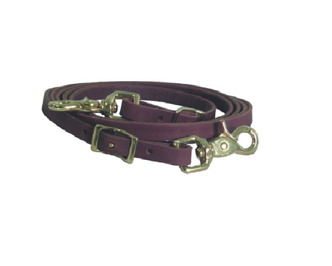 "1/2"" Latigo Roping Rein - Dusty Cowboy"