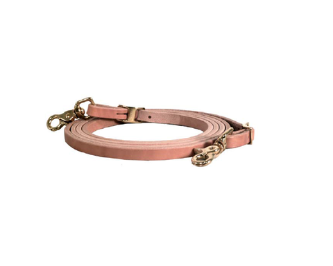 "1/2"" Russet Harness Roping Rein - Dusty Cowboy"