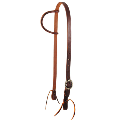 Slip Ear Headstall with Fancy Buckle-3/4″