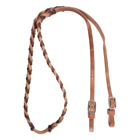 Oxbow 5/8 Latigo Laced Leather Barrel Reins - Dusty Cowboy