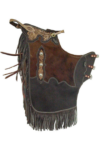 Rended Cowhide/Leather Chinks - Dusty Cowboy