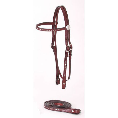 Royal King Buckstitched Browband Headstall - Dusty Cowboy