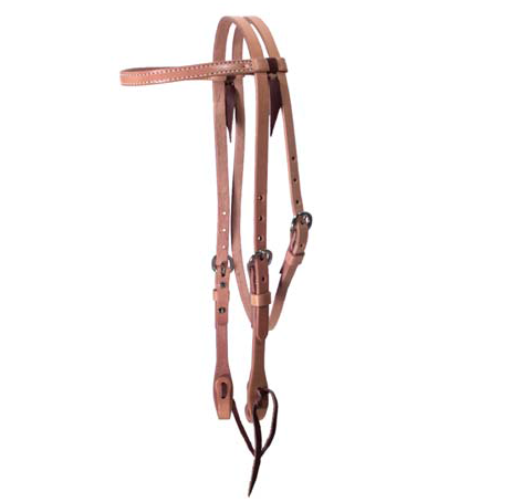 "5/8"" Leather Browband Headstall - Dusty Cowboy"