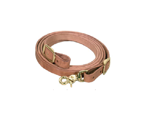"5/8"" Herman Leather Roping Rein w/ Brass Hardware - Dusty Cowboy"