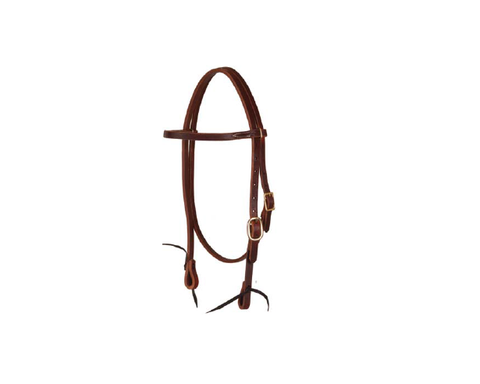 "5/8"" Herman Leather Oiled Browband Headstall - Dusty Cowboy"