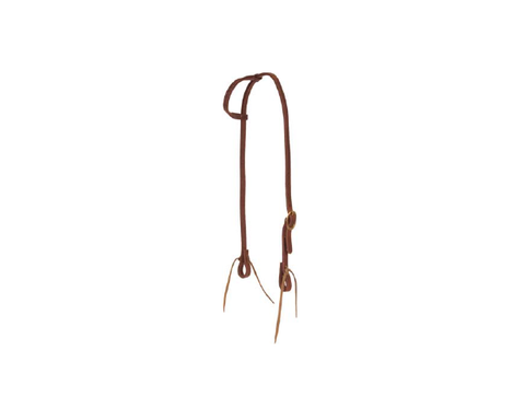 "5/8"" Herman Leather Oiled Slip Ear Headstall - Dusty Cowboy"