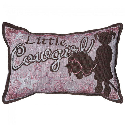 Decorative Accent Pillow - Dusty Cowboy