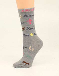 Western Crew Socks - Dusty Cowboy