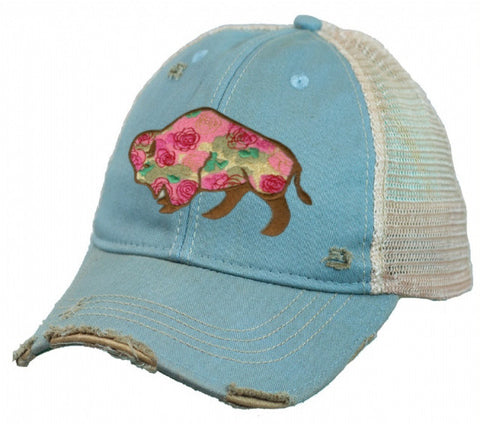 Buffalo Rose Cap - Dusty Cowboy