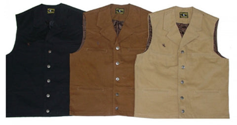 Wyoming Traders Bronco Canvas Vest - Dusty Cowboy