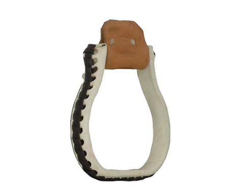 Flat Oxbow Stirrup - Dusty Cowboy