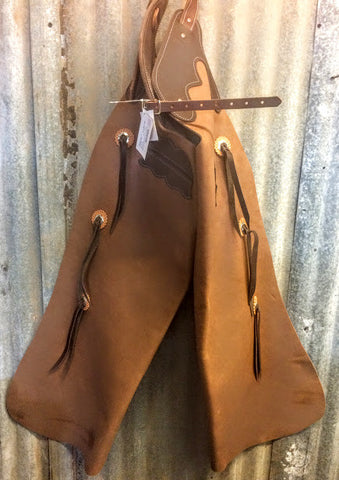 2 Color Batwing Chaps - Dusty Cowboy