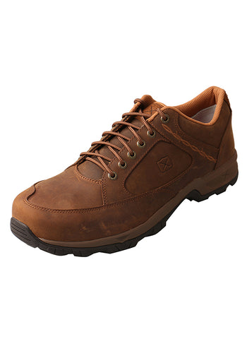Men's Hiker Shoe-Steel Toe – Distressed Saddle Twisted X - Dusty Cowboy