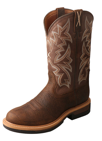 Men's Lite Cowboy Workboot – Taupe/Brown MLCA002 - Dusty Cowboy